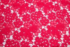 Яркий малиновый, красный гипюр Стоковое Изображение RF
