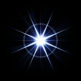 яркий объектив пирофакела взрыва иллюстрация штока