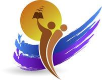 яркий логос образования Стоковая Фотография