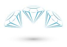 Яркий логотип диаманта Иллюстрация штока