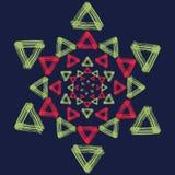 Яркий орнамент на голубой предпосылке Стоковые Изображения