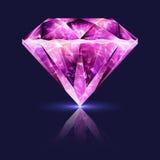Яркий лоснистый розовый рубин драгоценной камня Стоковое фото RF