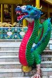 яркий пестротканый китайский дракон - традиционный символ  стоковое изображение