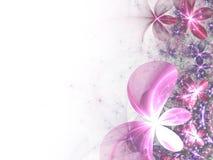 яркий пинк фрактали цветков Стоковая Фотография RF