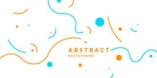 Яркий плакат с динамическими волнами Стиль иллюстрации минимальный плоский иллюстрация штока