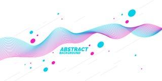 Яркий плакат с динамическими волнами также вектор иллюстрации притяжки corel Стоковые Изображения