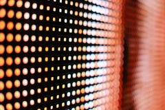 Яркий покрашенный желтый цвет и оранжевый экран smd СИД Стоковые Изображения RF