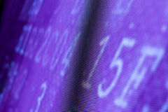 Яркий покрашенный фиолетовый экран smd СИД Стоковое фото RF