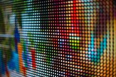 Яркий покрашенный экран smd СИД черной стороны Стоковое фото RF