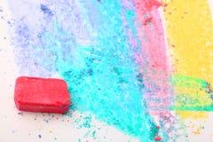 яркий покрашенный crayon Стоковые Изображения RF