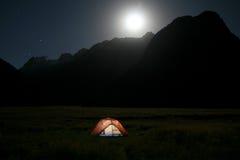 яркий поднимать луны Стоковое Изображение