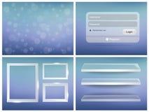 Яркий пользовательский интерфейс бесплатная иллюстрация