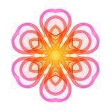 Яркий розовый стилизованный цветок линий иллюстрация штока
