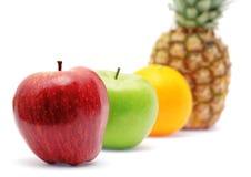 яркий рядок свежих фруктов стоковое фото