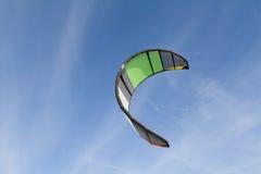 яркий серфер солнца змея вечера Стоковые Фото