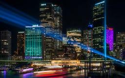Яркий Сидней на круговой набережной Стоковые Изображения RF