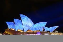 Яркий Сидней: Фестиваль света, музыки Стоковые Фото