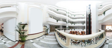 Яркий современный интерьер прихожей гостиницы стоковое изображение
