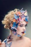 Яркий состав бабочки Стоковое Изображение