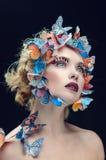 Яркий состав бабочки Стоковые Фото