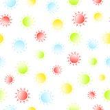 Яркий солнечный безшовный patten Лето и весна Стоковые Изображения