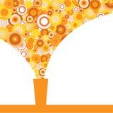 Яркий стекло апельсинового сока иллюстрация штока