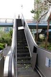 Яркий сломанный эскалатор Стоковое Фото