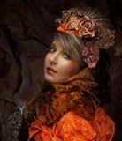 Яркий творческий состав красивейшая женщина стороны s Стоковая Фотография RF