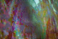 Яркий фиолетовый и желтый покрашенный экран СИД smd Стоковые Фото