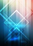 Яркий фон для плакатов и рогулек с линиями и элементом дизайна Предпосылка запачканная вектором абстрактная Стоковая Фотография