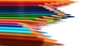 Яркий цвет рисовал вертикальную волну на белой предпосылке стоковые фото