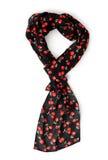Яркий черный женский шарф стоковое фото rf