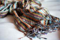 яркий шарф Стоковое Фото