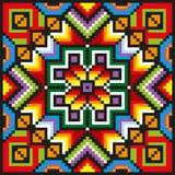 Яркий шить цветочный узор Стоковая Фотография RF