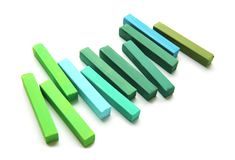 Яркий ый-зелен мел Стоковое Изображение RF