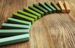 Яркий ый-зелен мел Стоковая Фотография RF