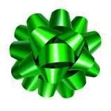 Яркий ый-зелен смычок ленты изолированный на белизне иллюстрация штока