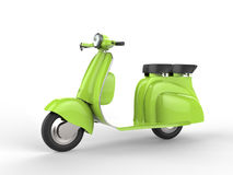 Яркий ый-зелен мопед - взгляд со стороны Стоковая Фотография