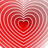 Яркий элемент сердца с планами в радиальной моде Стоковое Фото