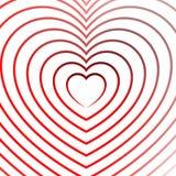 Яркий элемент сердца с планами в радиальной моде Стоковые Изображения