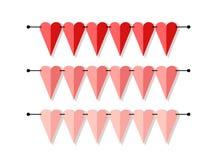 Ярким знамя сформированное сердцем как овсянка сигнализирует в плоском стиле бесплатная иллюстрация