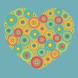 Яркое абстрактное сердце Стоковое Изображение