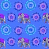Яркое безшовное с слоном Стоковое Изображение RF