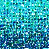 Яркое голубое bokeh зеленого цвета бирюзы объезжает предпосылку иллюстрация вектора