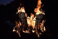 яркое горение Стоковая Фотография RF