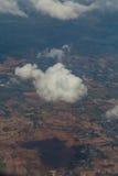 Яркое голубое небо над облаками Стоковая Фотография