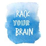 Яркое голубое пятно Абстрактная стильная акварель Стоковые Изображения RF