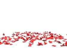 Яркое и красочное летание confetti на поле Изолированная предпосылка иллюстрация вектора