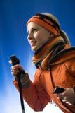 яркое катание на лыжах Стоковая Фотография