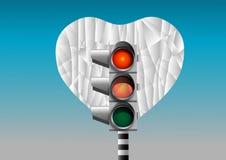 Яркое красное сердце Стоковое Изображение
